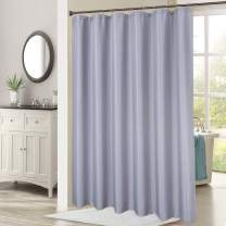 "Haperlare Waffle Shower Curtain with 84 Inches Length, Heavy Duty Fabric Shower Curtains with Waffle Weave Hotel Quality Bathroom Shower Curtains, 72"" x 84"", Grey"
