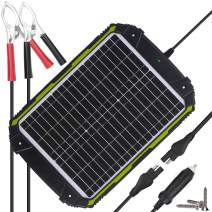 Sun Energise Waterproof 12V 20W Solar Battery Charger Pro - Built-in MPPT Charge Controller + 3-Stages Charging - 20 Watts Solar Panel Trickle Battery Maintainer for Car, RV, Boat, ATV etc.