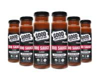 Good Food For Good Organic Classic BBQ Sauce, No Added Sugar Keto Sauce, Refined Sugarfree; Vegan Paleo Non GMO Gluten Free Low Salt Soy Free Corn Free; Naturally Sweetened with Dates (9.5oz)