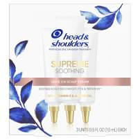 Head & Shoulders Supreme, Soothing Scalp Cream Treatment, with Argan Oil and Vitamin E, 0.5 Fl Oz, 3 Count