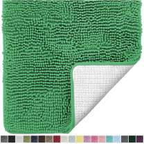 Gorilla Grip Original Luxury Chenille Bathroom Rug Mat, 30x20, Extra Soft and Absorbent Shaggy Rugs, Machine Wash Dry, Perfect Plush Carpet Mats for Tub, Shower, and Bath Room, Emerald