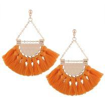 SHUNHAO Classic Rope Tassel Earrings Bohemian Ethnic Jewelry Fashion Drop Dangle Earrings for Women