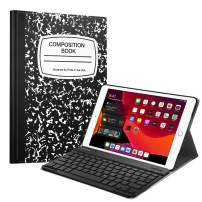 "Fintie Keyboard Case for New iPad 7th Generation 10.2 Inch 2019, SlimShell Stand Protective Cover w/Magnetically Detachable Wireless Bluetooth Keyboard for iPad 10.2"" Tablet, Composition Book Black"