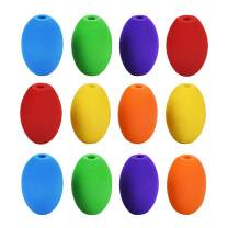 Special Supplies Egg Pencil Grips for Kids and Adults Colorful, Cushioned Holders for Handwriting, Drawing, Coloring - Ergonomic Right or Left-Handed Use - Reusable (12-Pack)