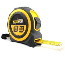 Magnelex  Tape Measure 33-Foot (10m) , Inches and Metric Measuring Tape for Construction, Home Use and DIY, Smooth Sliding Nylon Coated Ruler, Strong Belt Clip, Impact Resistant Rubber Covered Case