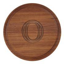 """BigWood Boards W100-O Cutting Board, Monogrammed Cutting Board, Small Round Cheese Board, Walnut Wood Serving Tray,""""O"""""""