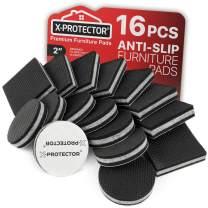 """Non Slip Furniture Pads Premium 16 pcs 2""""! Best SelfAdhesive Furniture Grippers – Furniture Stoppers for Furniture Feet - Ideal Furniture Non Slip Pads & Furniture Floor Protectors"""