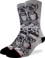 Good Luck Sock Men's The Dogfather Crew Socks - Grey, Adult Shoe Size 8-13