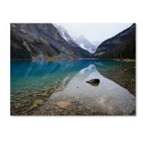 Lake Louise by Pierre Leclerc work, 30 by 47-Inch Canvas Wall Art