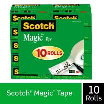 Scotch Magic Tape, Numerous Applications, Invisible, Engineered for Repairing, 3/4 x 1000 Inches, Boxed, 10 Refill Rolls (810P10K)