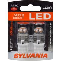 SYLVANIA ZEVO 7440 T20 Red LED Bulb, (Contains 2 Bulbs)