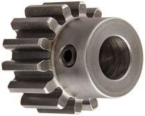 "Boston Gear NB20B Spur Gear, 14.5 Pressure Angle, Steel, Inch, 16 Pitch, 0.500"" Bore, 1.375"" OD, 0.500"" Face Width, 20 Teeth"