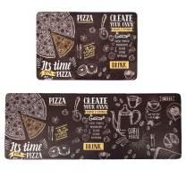 "HEBE Anti Fatigue Kitchen Mat Set of 2 Non Slip Thick Waterproof Kitchen Floor Mats Cushioned Kitchen Rug Runner Set Kitchen Chef Mats SetHeavy Duty Comfort Standing Mats (18""x27""+18""x48"")"