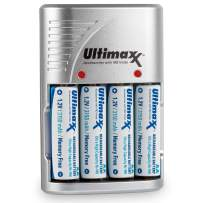Ultimaxx 4 Port Charger with 4 AA Batteries (Ultimaxx 4 Port Charger with 4 AA Batteries 3150mAh Memory Free- Rechargeable, Ni-MH, Durable & Long-Lasting)