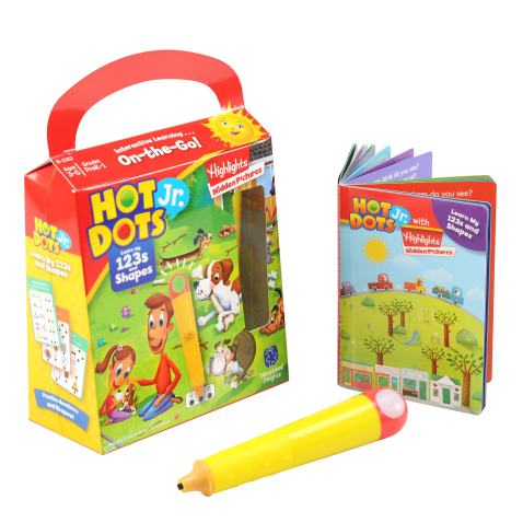 Educational Insights Hot Dots Learn My 123's & Shapes with Highlights, Homeschool, 48 Early Learning Lessons, Interactive Pen Included, Ages 3+