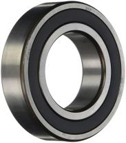 SKF 61815-2RS1 Radial Bearing, Single Row, Deep Groove Design, ABEC 1 Precision, Double Sealed, Contact, Normal Clearance, Steel Cage, Metric, 75mm Bore, 95mm OD, 10mm Width