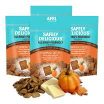 Safely Delicious Allergen-Free All-Natural, Gluten-Free, Vegan Snack for Kids & FREE of Top 11 Allergens (Pumpkiny Bites, Full Size 3 Ounce (4 Bags))