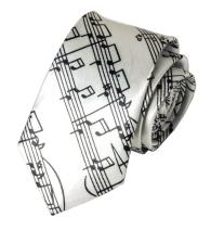 Men Boys Novelty Musical Notes Printed Necktie Super Skinny Fun Theme Thin Ties