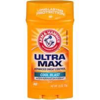 ARM & HAMMER ULTRA MAX Solid AntiPerspirant Deodorant, Cool Blast, 2.6 oz.