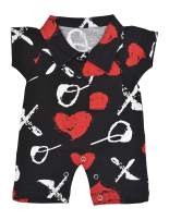 Unique Baby Valentine's Day XO Gentleman Romper Outfit Cotton Onesie
