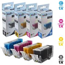 LD Compatible Ink Cartridge Replacement for Canon PGI-220 & CLI-221 (Pigment Black, Cyan, Magenta, Yellow, 4-Pack)