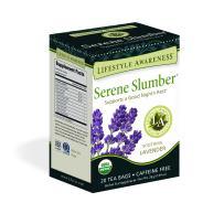 Lifestyle Awareness Serene Slumber Tea with Soothing Lavender, Caffeine-Free , 20 Tea Bags