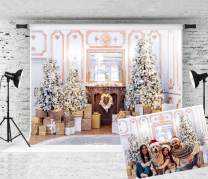 KINGSKY 7x5ft Christmas Photography Backdrop Luxury Christmas Indoor Decoration Background Portrait Photo Booth Props