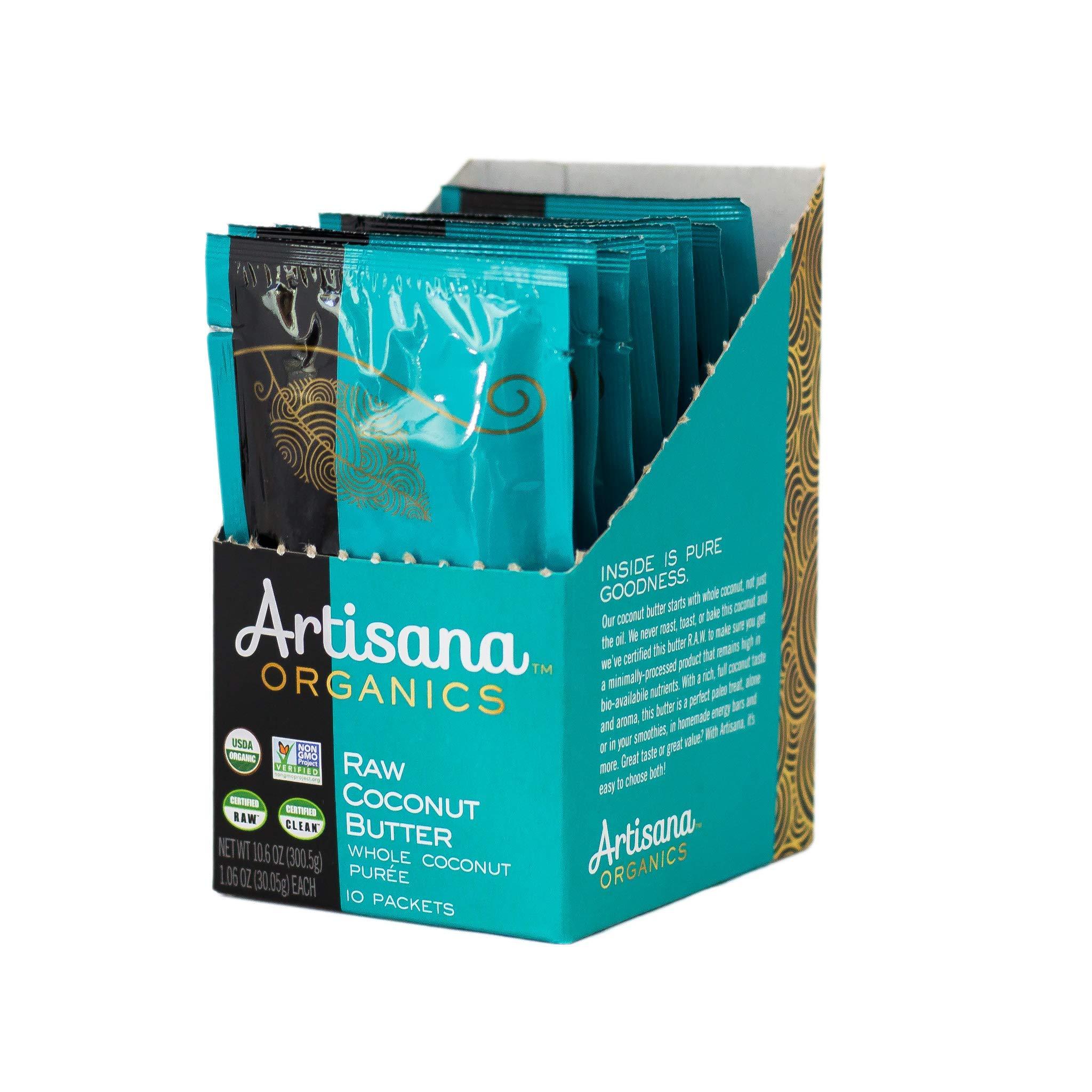 Artisana Organics Non GMO Raw Coconut Butter, 10 Snack Pouches
