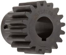 """Martin TS1045 Spur Gear, 20° Pressure Angle, High Carbon Steel, Inch, 10 Pitch, 1"""" Bore, 4.7"""" OD, 1.250"""" Face Width, 45 Teeth"""
