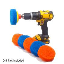 Scrubza Bathroom & Kitchen Cleaning Drill Brush Accessory - All Purpose Power Scrubber for Bathtub, Grout, Floor, Tub, Shower, and Tile Surfaces Cleaner Supplies- Even Burned Pots and Stove Tops!