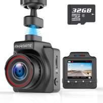 "AKAMATE AMA000C1L Dash Cam, Magnetic Dashboard Recording Camera 1.5"" Mini Dvr Car Full HD 1080P, 145° Wide Angle"