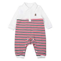 Unisex-Baby Long Sleeve 100% Organic Cotton Romper, Cute Bear Casual Onesie Jumpsuit for Newborn Toddlers, Coveralls