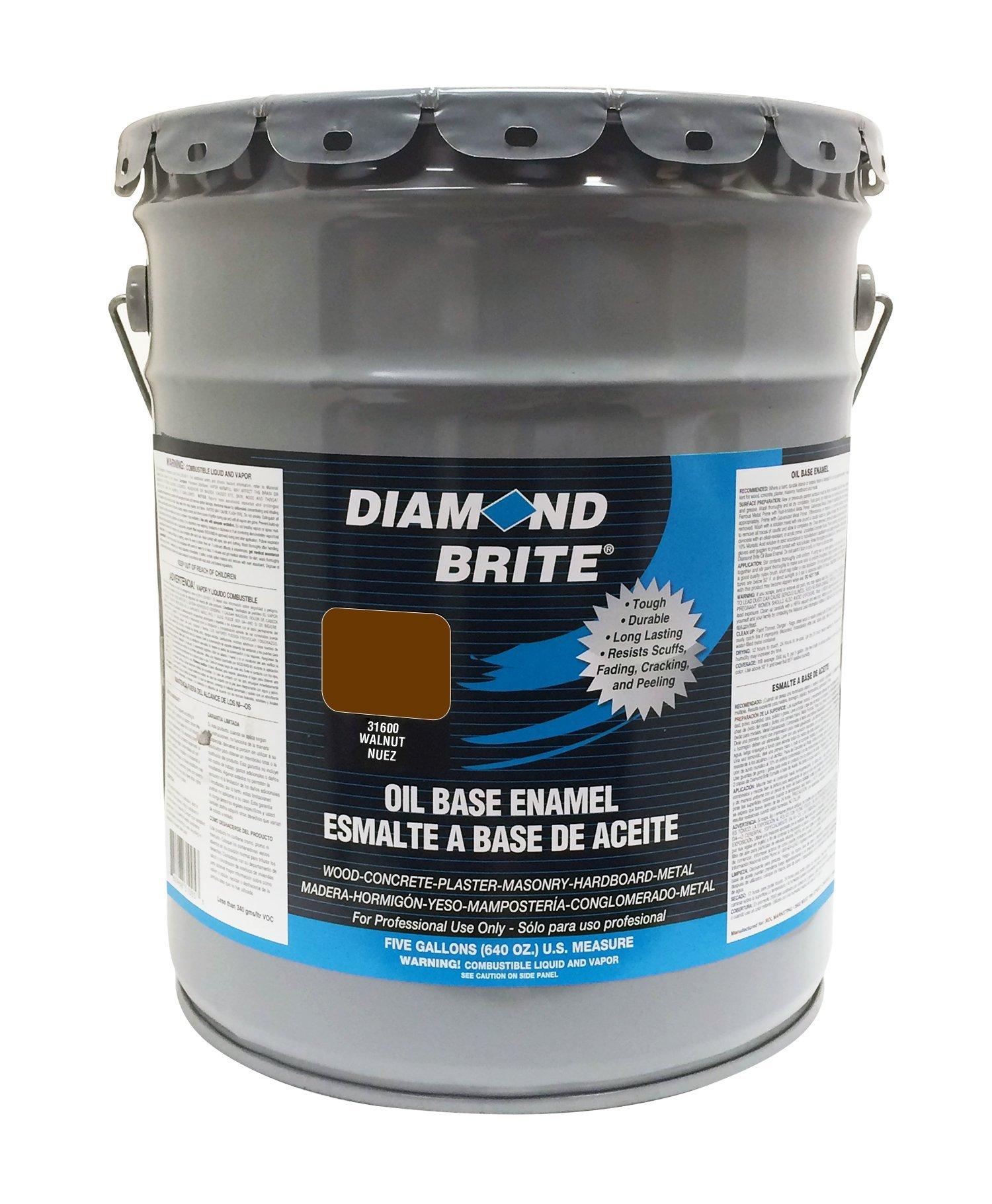 Diamond Brite Paint 31600 5-Gallon Oil Base All Purpose Enamel Paint   Walnut