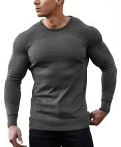 COOFANDY Men's Crew Neck Sweater Slim Fit Lightweight Knitted Cotton Pullover