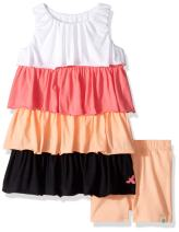 Burt's Bees Baby Baby Girls' Tee and Shorts Set, Top and Bottoms Outfit, 100% Organic Cotton