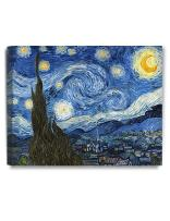 DECORARTS - Starry Night, Vincent Van Gogh Art Reproduction. Giclee Canvas Prints Wall Art for Home Decor. 20x16