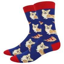 HAPPYPOP Funny Cat Dog Chicken Socks Gift for Men, Novelty Corgi Dachshund Hen Animals