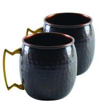 10 Strawberry Street Antique Copper Mugs, 16 Oz, Set of 2