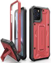 ArmadilloTek Vanguard Designed for iPhone 11 Pro Case (5.8 inches) Military Grade Full-Body Rugged with Built-in Screen Protector and Kickstand - Red