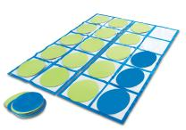 Learning Resources Ten-Frame Floor Mat Activity Set, Math Skills, 22 Pieces, Ages 5+