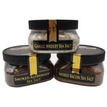 Steak Rubs Sea Salt Collection 3-Pack: Smoked Alderwood F, Smoked Bacon F, Garlic Medley - Adding Delicious Flavor and Depth to Your Favorite Foods - Non-GMO, Gluten-Free, No MSG (12 total oz.)