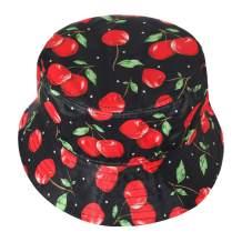 ZLYC Unisex Cute Print Bucket Hat Summer Travel Fisherman Cap for Women Men Teens