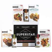 Urban Accents GRILL SUPERSTAR, The Complete Gourmet Grilling Spices and Rubs Gift Sets(Set of 7) - A Dryglaze, Grilling Spices and BBQ Rubs Gift Set- Perfect Gift for Him, Weddings or Any Occasion