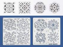 Aleks Melnyk #40 Metal Journal Stencils/Celtic Knot/Stainless Steel Stencils Kit 2 PCS (4 designs)/Templates Tool for Wood Burning, Pyrography and Engraving/Scrapbooking/Crafting/DIY