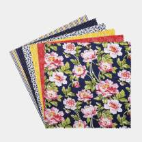 """Connecting Threads Print Collection Precut Quilting Fabric Bundle 10"""" Squares (Penelope Grace)"""