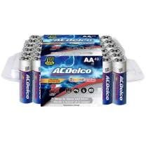ACDelco AA Super Alkaline Batteries in Recloseable Package, 48 Count