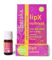 Baraka LipX Survival - Fast Acting Organic All Natural Lip Blister Remedy and Fever Blister Relief for Cold Sore Outbreaks with Essential Oils