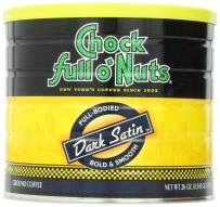 Chock Full o'Nuts Dark Satin Ground Coffee, Dark Roast - 100% Premium Arabica Coffee – Full-Bodied, Robust Dark Blend with a Rich Flavor and Smooth Finish (26 Oz. Can)