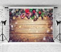 Kate 10x6.5ft Christmas Backdrop Wood Backgrounds for Studio Photo Props Backgrounds