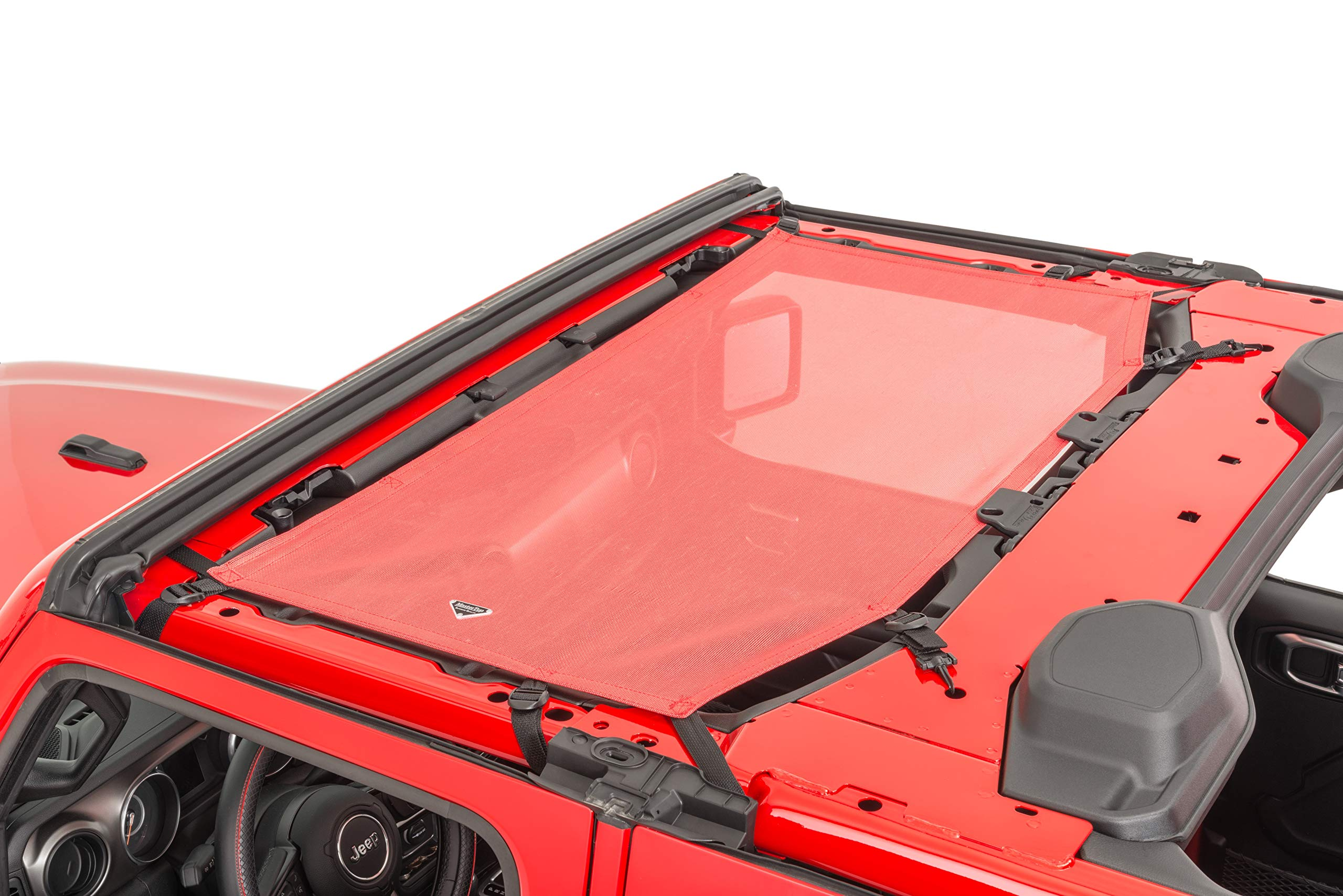 MasterTop 14202502 Freedom Mesh Red Front only (2 or 4 Door) Jeep Brief Tops